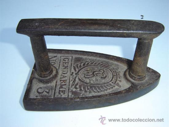 PLANCHA Nº 3 GENDARME (Antigüedades - Técnicas - Planchas Antiguas - Varios)