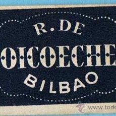 Antiguidades: HOJA DE AFEITAR. R. DE GOICOECHEA, AZUL. BILBAO.. Lote 195811148