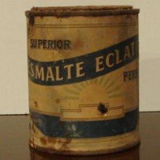 Antigüedades: BOTE DE ESMALTE ECLATINA. ALTURA 10 CM. Lote 23193792