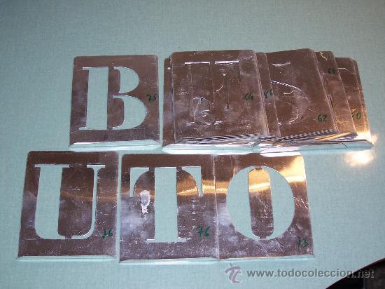 Lote De Plantillas En Aluminio Son Letras Comprar Herramientas