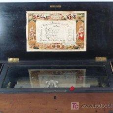 Antigüedades: CAJA DE MÚSICA, S.XIX. 7 PUAS ROTAS. POR RESTAURAR. TAMAÑO: 51 CM DE LARGO X 22 CM ANCHO. Lote 25414656