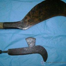 Antigüedades: DOS PRECIOSOS PODONES ANTIGUOS- PODON ANTIGUO UNO ENORME. Lote 27263616