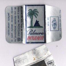 Antigüedades: HOJA DE AFEITAR *PALMERA* INOXIDABLE ,CON SU HOJA Y SOBRE. Lote 182632838