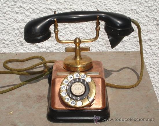 Telefono Antiguo En Cobre, Laton Y Baq