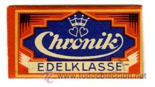 CUCHILLA AFEITAR CHRONIK (Antigüedades - Técnicas - Barbería - Varios Barbería Antiguas)