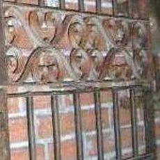 Antigüedades: REJA DE HIERRO FORJADO ANTIGUA A BARROTE PASANTE Y CENEFA MED: 160X96 CM. .. Lote 26355450
