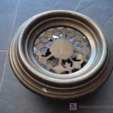 Antigüedades: MIRILLA ANTIGUA DE BRONCE-TAMAÑO GRANDE. Lote 26363618