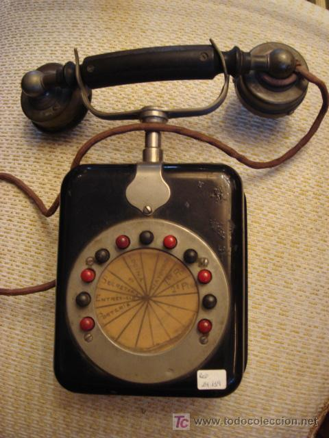 TELEFONO ANTIGUO DE PARED (Antigüedades - Técnicas - Teléfonos Antiguos)