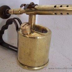 Antigüedades: MINI SOPLETE MARCA BLADON 1936 (11,5CM DE ALTO, DIAMETRO DE DEPOSITO 6CM APROX). Lote 23940302