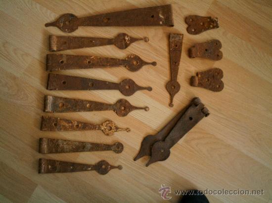 BISAGRAS DE FORJA ANTIGUAS (Antigüedades - Técnicas - Cerrajería y Forja - Bisagras Antiguas)