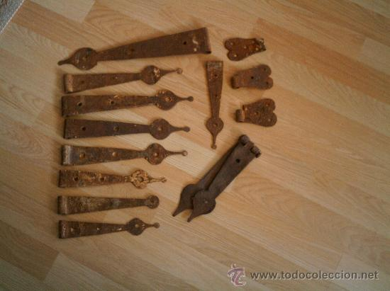 Antigüedades: BISAGRAS DE FORJA ANTIGUAS - Foto 2 - 27013812