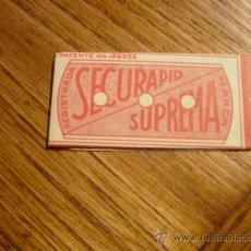 Antigüedades: HOJA DE AFEITAR ESPAÑOLA SECURAPID SUPREMA. Lote 13177604