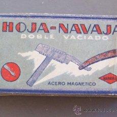 Antigüedades: PAQUETE DE 10 HOJAS DE AFEITAR HOJA-NAVAJA (SIN ABRIR). Lote 21078899