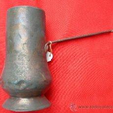 Antigüedades: CHOCOLATERA COBRE Y FORJA. Lote 17456371