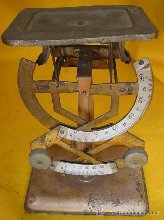 BÁSCULA MYC PARA PESOS PEQUEÑOS HASTA 250 GRAMOS (Antigüedades - Técnicas - Medidas de Peso - Básculas Antiguas)