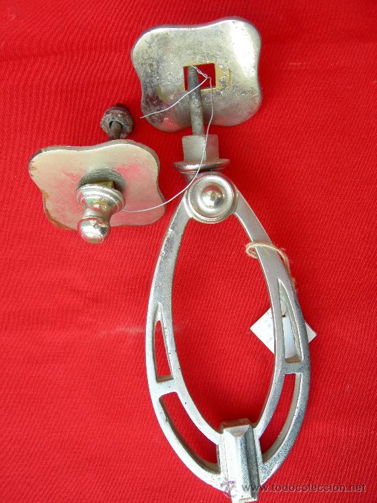 LLAMADOR MODERNISTA (Antigüedades - Técnicas - Cerrajería y Forja - Llamadores Antiguos)