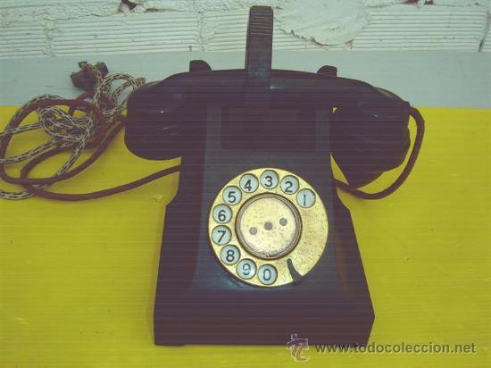 TELEFONO ANTIGUO DE BAQUELITA (Antigüedades - Técnicas - Teléfonos Antiguos)