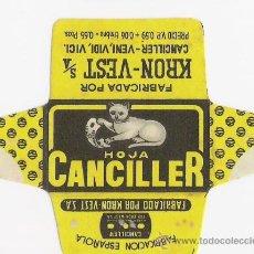 Antigüedades: HOJA DE AFEITAR *** HOJA CANCILLER ***. Lote 182632567