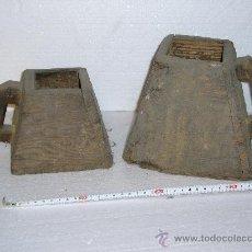 Antigüedades: DOS MEDIDAS PARA GRANOS MUY ANTIGUAS . Lote 22083104