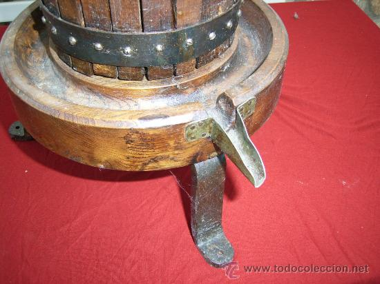 Antigüedades: PRENSA DE HIERRO Y MADERA - Foto 2 - 26420205