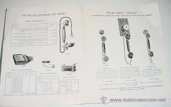 Teléfonos: ANTIGUO Y EXCEPCIONAL DE CATALOGO DE TELEFONIA, TELEFONOS . DE LA GENERAL ELECTRIC DE ESPAÑA, PRINCI - Foto 3 - 26656506