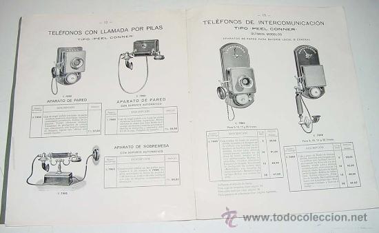 Teléfonos: ANTIGUO Y EXCEPCIONAL DE CATALOGO DE TELEFONIA, TELEFONOS . DE LA GENERAL ELECTRIC DE ESPAÑA, PRINCI - Foto 4 - 26656506