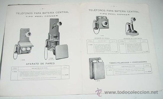 Teléfonos: ANTIGUO Y EXCEPCIONAL DE CATALOGO DE TELEFONIA, TELEFONOS . DE LA GENERAL ELECTRIC DE ESPAÑA, PRINCI - Foto 6 - 26656506