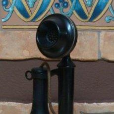 Teléfonos: TELEFONO CANDLESTICK ( CANDELABRO ) DE LOS AÑOS 20 (FUNCIONANDO PERFECTAMENTE). Lote 27343146