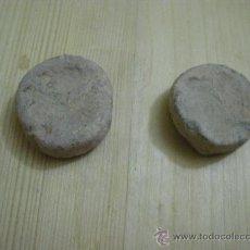 Antigüedades: PAREJA DE PESAS O PONDERALES. PESA PONDERAL.. Lote 22054419