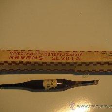 Antigüedades: AMPOLLA INYECTABLE DE LABORATORIOS ARRANS. Lote 144982668