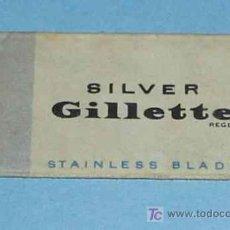 Antigüedades: HOJA DE AFEITAR GUILLETTE SILVER. Lote 14707589