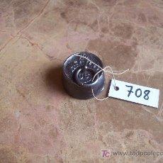 Antigüedades: ANTIGUA PESA DE HIERRO. Lote 26085369