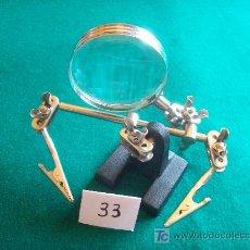 Antigüedades: MAGNIFICA LUPA PARA SOLDAR Y PINTAR. Lote 178995461