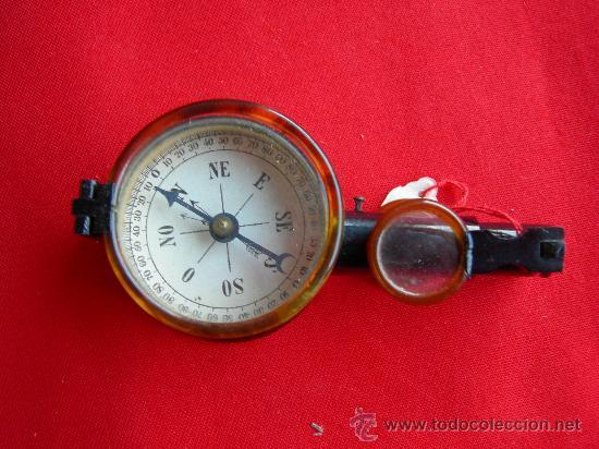 ANTIGUOS BINOCULARES BRUJULA (Antigüedades - Técnicas - Instrumentos Ópticos - Lupas Antiguas)