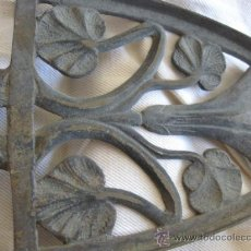 Antigüedades: BASE DE PLACHA EN BRONCE, EPOCA ART NOUVEAU PP.SG.XX. 1910-1920. MIDE 27 X 11CM. TRES PATITAS.. Lote 15403659