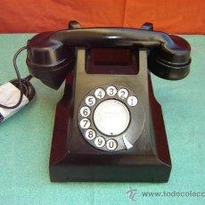 Teléfonos: TELEFONO ANTIGUO DE BAQUELITA. Lote 15443622