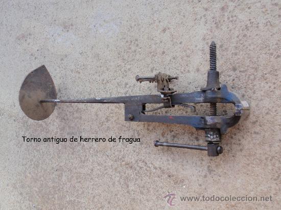 TORNO ANTIGUO DE HERRERO. (Antigüedades - Técnicas - Herramientas Antiguas - Otras profesiones)