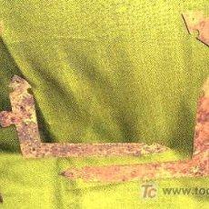 Antigüedades: 4 ESCUADRAS HIERRO FORJADO ANTIGUAS PARA 2 PÙERTAS.SUPERIOR INFERIOR..MEDIDAS.ENVÍO PAGO. Lote 23271728