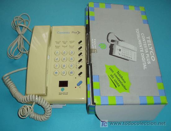 TELEFONO CONTESTAPLUS. TELEFONO CON CONTESTADOR SIN CINTA (Antigüedades - Técnicas - Teléfonos Antiguos)