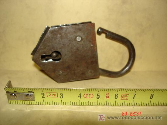 CANDADO SIN LLAVE (Antigüedades - Técnicas - Cerrajería y Forja - Candados Antiguos)