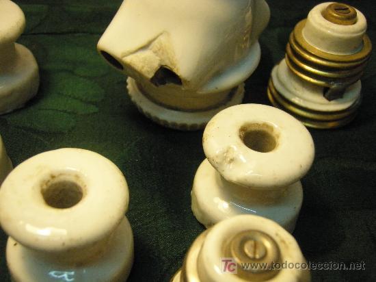 Antigüedades: LOTE MECANISMOS ANTIGUOS DE ELECTRICIDAD DE PORCELANA - Foto 2 - 26970839