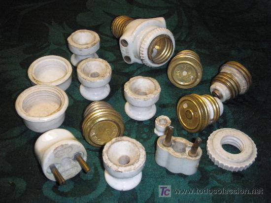 Antigüedades: LOTE MECANISMOS ANTIGUOS DE ELECTRICIDAD DE PORCELANA - Foto 3 - 26970839