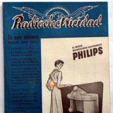 Antigüedades: REVISTA ANTIGUA DE RADIO RADIOELECTRICIDAD Nº 142 ENERO 1951, MUY CURIOSA, ESQUEMAS, ANUNCIOS.... Lote 26935158