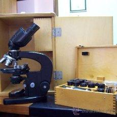 Antigüedades: MICROSCOPIO BIOLOGICO BINOCULAR MBR-3 (CCCP) AÑOS 60 . Lote 27135750