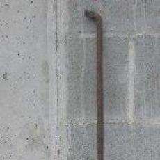 Antigüedades: FALLEBA DE PORTICÓN ANTIGUA Y BARRA DE ATRANCAR, 1'7 M. Lote 16215863