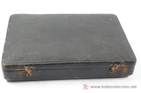 Antigüedades: balanzas inglesas en estuche incompletas. . Tamaño estuche: 15,5x10,5 cm. - Foto 3 - 19513730