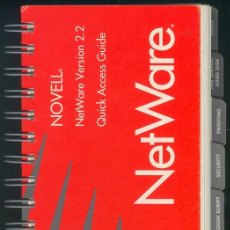Antigüedades: NOVELL NETWARE VERSION 2.2 QUICK ACCESS GUIDE (EN INGLES), 155 PAGINAS ¿1990?. Lote 16492277