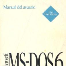 Antigüedades: MANUAL DE USUARIO MICROSOFT MS DOS 6 1993, 272 PAGINAS. Lote 16492380
