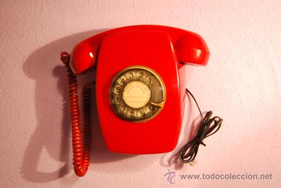 TELÉFONO HERALDO DE PARED - ROJO - DIFICIL DE ENCONTRAR - CITESA - AÑOS 60 - FUNCIONANDO (Antigüedades - Técnicas - Teléfonos Antiguos)