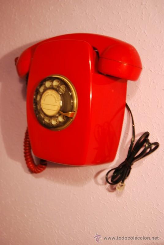 Teléfonos: TELÉFONO HERALDO DE PARED - ROJO - DIFICIL DE ENCONTRAR - CITESA - AÑOS 60 - FUNCIONANDO - Foto 2 - 35773094